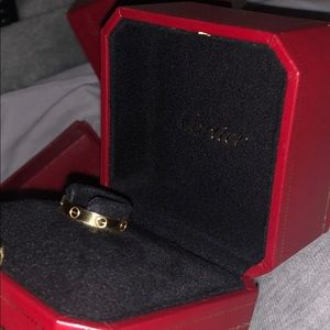 Cartier love wedding ring